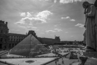 Pyramide du Louvre at the Musée du Louvre, Paris, France.