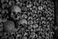 Catacombes de Paris, France.